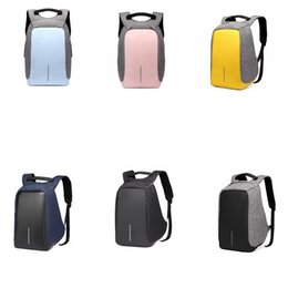 Wholesale computer chargers - USB Oxford Backpack Student Double Shoulder Bag Computer Bag With USB Charger Laptop outdoor Travel Guard against theft Backpack GGA580 5pcs