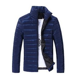 Wholesale Large Size Down Coats - new fashion winter jacket men stand collar winter coat men the down cotton of mens clothing large sizes