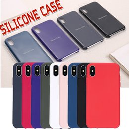 Wholesale Rubber Backs - For iPhone X Silicone Case Slim Ultra Thin Soft Rubber Solid Shockproof Protective Back Cover For iPhone X 8 7 Plus 6 6S With Retail Package