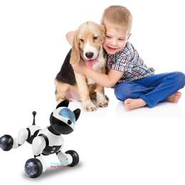 Robôs do gato on-line-YANZCHILD Controle Remoto Sem Fio Robô Cão Inteligente Inteligente Filhote de Cachorro Sentidos Gesto Canta Danças Gato Para Meninos Meninas e Criança