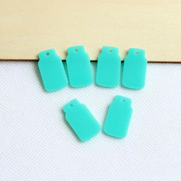 "Wholesale Turquoise Acrylic Beads - Wholesale-(50pcs lot) 25 mm Eco-Friendly Acrylic Jar Earrings With Hole Acrylic Beads Turquoise Color 1"" -AC1048C"