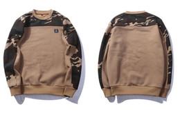 Камуфляжная лента онлайн-США размер боковой пряжки ленты камуфляж толстовки 2018 Мужская хип-хоп повседневная камуфляж пуловер с капюшоном кофты мода мужской уличной