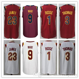 Wholesale Derrick Green - Mens 2017-18 New season jerseys 23 LeBron 9 Dwyane Wade 1 Derrick Rose 3 Isaiah Thomas 100% Stitched jersey free shipping.