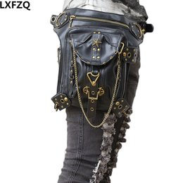 motor pack Promo Codes - carteras mujer bag Steampunk thigh Motor leg Outlaw Pack Thigh Holster Protected Purse Shoulder Backpack Purse leather women bag