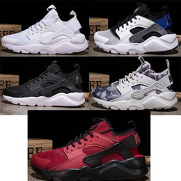 Wholesale Red Tens - 2018 Air New Huarache For Men Running Shoes The Ten White Black Runner Sports Shoes Outdoor Athletics Sneakers size 40-45 zapatillas