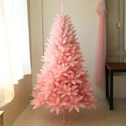 decorazioni natalizie di babbo natale Sconti Albero di decorazione dell'albero di Natale rosa delle decorazioni di Natale artificiali per le decorazioni di Natale con l'albero rosa progettato Trasporto libero