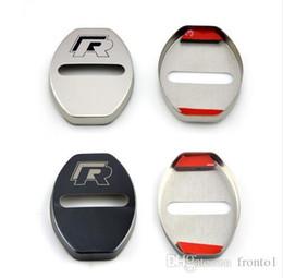 vw аксессуары для гольфа Скидка Стайлинга автомобилей дверной замок чехол для VW Volkswagen R Line Golf 7 Passat B5 B6 B7 MK4 MK6 MK7 RLine CC аксессуары стайлинга автомобилей