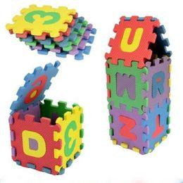 36 Unids / set Unisex Mini Niños Puzzles Juguetes Educativos 3D Rompecabezas Alfabeto A-Z Letras Numeral Estera de Espuma Suave Rompecabezas desde fabricantes