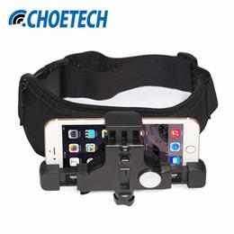 Wholesale Gopro Belt - wholesale Elastic Waist Belt Strap Mount for iPhone 7 6 Plus Adjustable Cell Phone Holder for GoPro Hero5 Sports Action Camera