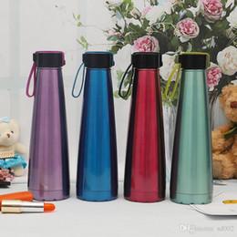 Botellas de agua de moda online-Taza de la cuerda de elevación de acero inoxidable Taza de vacío deportivo portátil Preservación del calor Originalidad Botella de agua Moda Anti escaldadura 24rs jj
