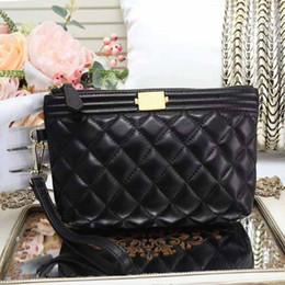 Wholesale sheepskin handbags - Hot sell high quality caviar purse classic sheepskin leather handbag real hot sell clutch purse bag luxury lady wallet bag #77777