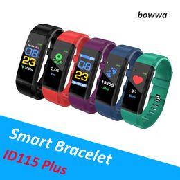 Canada Date Fitbit ID115 Plus Bracelet Intelligent Bracelet Couleur Écran LCD Tracker Fitness Tracker Podomètre Fréquencemètre Moniteur de Pression Artérielle Offre