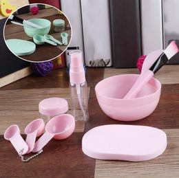 Facial, limpeza, escova, jogo on-line-9 em 1 Cosmetic Maquiagem Definir Máscara Facial escova bacia garrafas reutilizáveis cara limpa Sponge Kit Maquiagem Tool