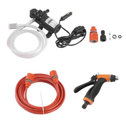 Wholesale High Pressure Washer Pumps - High Pressure Self-priming Electric Car Wash 80W Washing Pump 12V Car Washer Washing Machine With Cigarette Lighter Cable