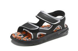 Wholesale sandal kids brand - 2018 Baby Kids Letter First Walkers Infants Soft Bottom Anti-skid Shoes Toddler Shoes 5 Colors Brand Sandals Flip Flops Eur 24-35