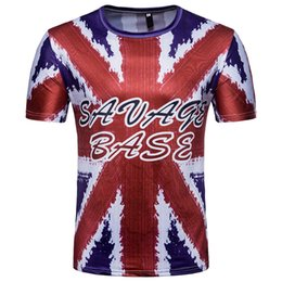 Wholesale Uk T Shirt Printing - Top Tees Letter 2018 World Cup Jerseys UK Flag Fashion Printed New 3d t shirts Casual Shorts For Fans Commemorate Uniform Soccer T-Shirt