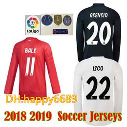 c5ffe572b9c 18 19 Real madrid Long sleeve Soccer Jersey Benzema football Modric Kroos  Sergio Ramos Bale Marcelo Madrid 2018 2019 ASENSIO shirt