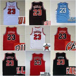 Venta al por mayor online-Venta caliente 23 Michael Basketball Jerseys 1997-98 All Star Jersey North Carolina NCAA College Michael Bordado Logo Cosido Barato al por mayor