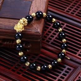 2019 contas de ágata budista 10mm Preto Vermelho Branco Ágata Buddha Beads Envoltório Pulseiras Com Brave Tropas Charme Tibetano Oração Beads Budista Pulseira Chakra Pulseiras de Presente contas de ágata budista barato