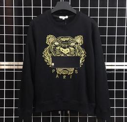 2019 suéter del fútbol del chándal del hombre Sudaderas Diseñador de manga larga Camisetas para hombres Tiger Hoodeis bordado marca lLetter Top mujeres otoño primavera tamaño S-2XL