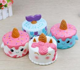 Wholesale Valentine Movie - 11cm Jumbo Squishy Cute Unicorn Cake Squishies Super Slow Rising Cream Scented Squeeze Toy Valentines Gift Birthday Gift