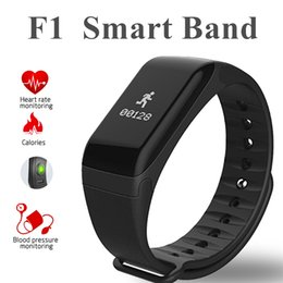 Wholesale Sleep Monitoring - F1 Smart Wristband With Heart Rate Blood Pressure Monitor Function Bluetooth4.0+ Wireless Fitness Sports Tracker for IOS and Android Phone