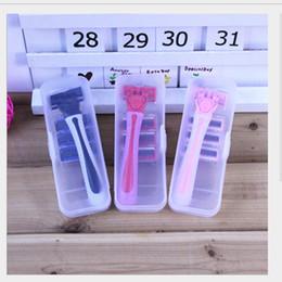 faca de barbeiro Desconto OT-35 Novo chega !! lâmina portátil da remoção do cabelo da rapagem da segurança lâmina superior da lâmina do sistema do aço inoxidável DHL
