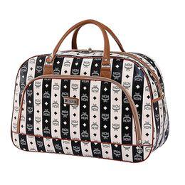 Sacs de voyage femme imperméable à la mode bagages d'emballage Cubes sac PU Weekend pliable sac de voyage en cuir X046 48% OFF ? partir de fabricateur