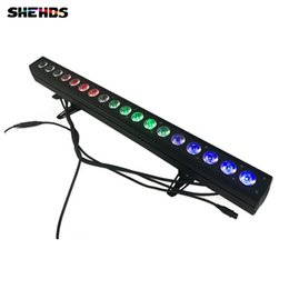 Wholesale horse wall lights - 4pcs lot 18x12W RGBW 4IN1 Led Wall Wash Light DMX Led Bar DMX Line Bar Wash Stage Light For Dj Indoor horse race lamp