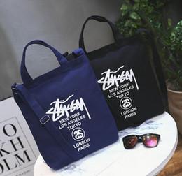 riciclare la confezione regalo Sconti 2018 Mori ragazza Stus borsa di tela moda tendenza selvaggio spalla borsa studentesca portatile Messenger shopping bag