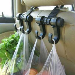 Perchas reposacabezas online-Auto Seat Hanger Purse Bag Organizer Holder Conveniente Doble Suspensiones para vehículos Auto Car Seat Reposacabezas Bag Hook Holder