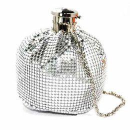 2019 garrafa moeda 2016 Apressado Promoção Mini (20 cm) Mulheres Sólida Mini Saco De Garrafa Tote Messenger Hip Flask Pequena Bolsa Da Moeda Caso Bolsa Multi-cor desconto garrafa moeda