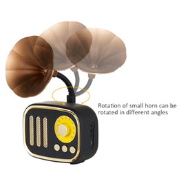 Argentina Venta al por mayor Mini Retro Altavoces Inalámbricos Clásico Subwoofer Estéreo Altavoz Bluetooth Altavoz Reproductor de Música Soporte de tarjeta TF Radio para regalos DHL supplier loud speaker music player Suministro