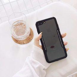schiffsschale Rabatt Neueste Ankunft 2 in 1 Acryl weiche klare Fälle für IPhone X 8 7Plus 6S Anti-Schock für Cradle Design Kostenloser Versand