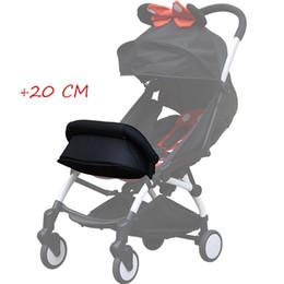 Accesorios para pies infantiles online-Accesorios del resto del pie del cochecito de bebé para Babyzen Babytime Pram Carros infantiles Extensión de los pies del trono del bebé reposapiés