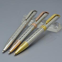 penna a sfera di scrittura migliore Sconti Di lusso R-O-X marca carino penna a sfera materiale scolastico ufficio di cancelleria in metallo resina blu ricarica scrivere penne a sfera per il migliore regalo di compleanno