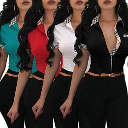 Damen Tops und Blusen 2019 Casual Damen Kurzarm Bluse Sexy Frauen Print Bluse Shirts für Frauen von Fabrikanten