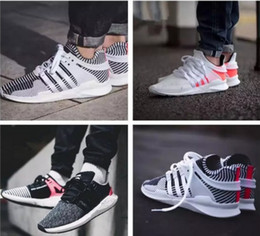 zebra shoes for women Coupons - EQT Support Future 93 96 16 Black White Stripe Zebra Women Mens Sports Running Shoes for red pink Army green Navy grey Casual Sneakers 36-45