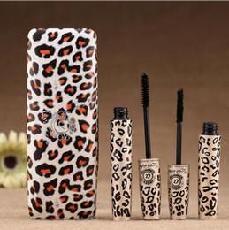 2019 maquillaje natural barato Impermeable Amor Alpha Mascara Fibra Natural Doble Marca Extensión de Leopardo Negro Pestañas Más Largas Pestañas Cosméticos Máscara Nueva Barato maquillaje natural barato baratos
