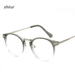 149edaf1686 Vintage Men Women Eyeglass TR90 Metal Frame Glasses Round Spectacles Clear  Lens Optical Very Light TR Blue Film Eyeglass Frame
