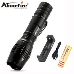 Wholesale xml t6 zoom - AloneFire G702 Zoom led Tactical flashlight CREE xml T6 5000 Lumens flash light torch Lantern powerful torch
