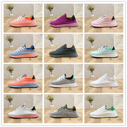 Wholesale tubular cut - 2018 Original Deerupt Runner Tubular Shadow Net Surface Comfortable Running Shoes for Mens Women Orange Casual Sport Designer Sneakers 36-45