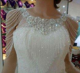 Custom Made Perle Bolero Giacche Per Abiti da sera 2019 Spedizione gratuita Bolero Mariage Wedding Wraps Novia Scialli da sposa economici da
