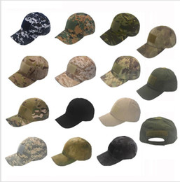 Wholesale Military Style Caps Hats - Camo Special Force Tactical Operator hat Baseball Hat Cap Baseball Style Military Hunting Hiking Patch Cap Hat LJJK970