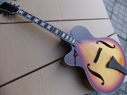Wholesale Acoustic Left - EG-56 Wholesale Wholesale Left Handed Cibson Acoustic Electric Guitar Semi Hollow Body electric guitar top quality in Sunburst free shipping