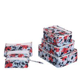 Wholesale underwear container - MeyJig 6Pcs Set Portable Travel Storage Box Makeup Cosmetic Storage Bag Waterproof Clothes Organizer Underwear Bra Container Box