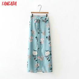 e41b923e73 Tangada donne boho style stampa gonna dritto cravatta papillon faldas mujer  retro signore moda casual chic gonne lunghe XD377