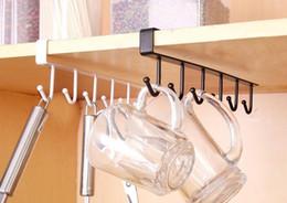 кухонные стеллажи Скидка Творческий Железный Шкаф Шкаф Вешалки Бесплатно Ногтей Кухня Стеллаж Для Хранения С 6 Крючками-Многофункциональная Полка Для Посуды
