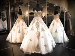 Diamant-spitzenkragen online-White Collar und herzförmigen Rock Kleid Ritus Gold Spitze Applique Hochzeit zurück Riemen Farbe Diamant Rock günstig Versand Netzwerk