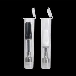 2019 tanques de óleo plástico Mais novo tubo de plástico à prova d 'água para o óleo grosso cartuchos vape embalagem pp tubo apto para 510 thread vape tanque atomizador frete grátis tanques de óleo plástico barato